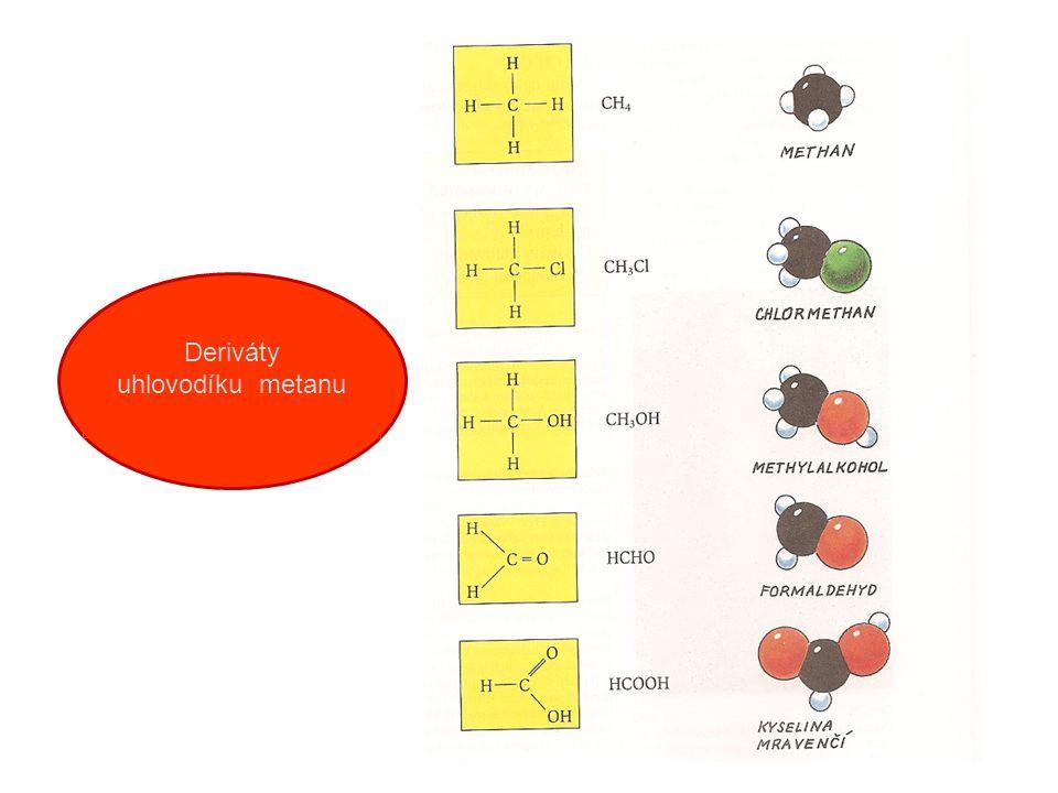 Deriváty uhlovodíku metanu