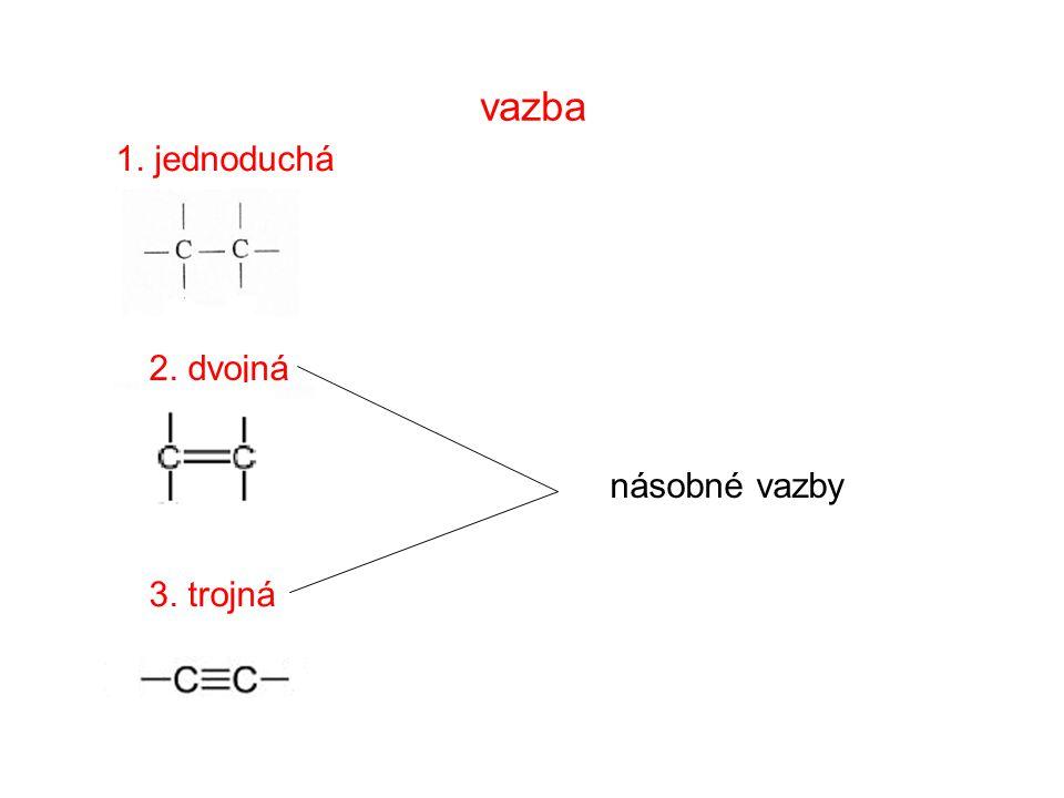 vzorce 1.Sumární (molekulové) C2H6 C2H6 vyjadřují počet a druh atomů 2.