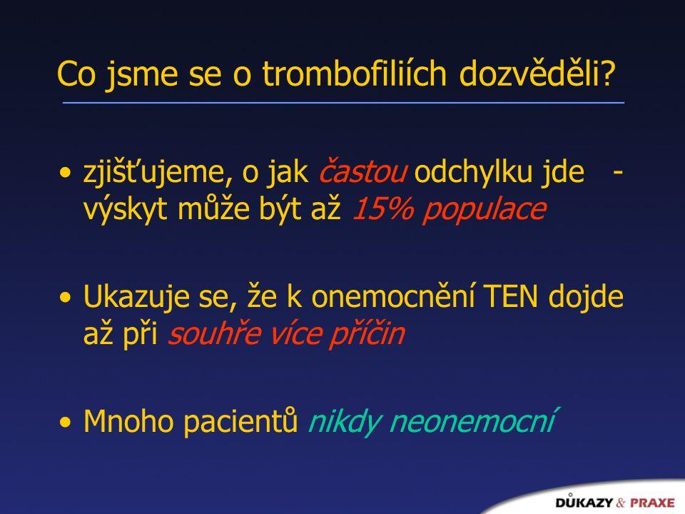 Co jsme se o trombofiliích dozvěděli.