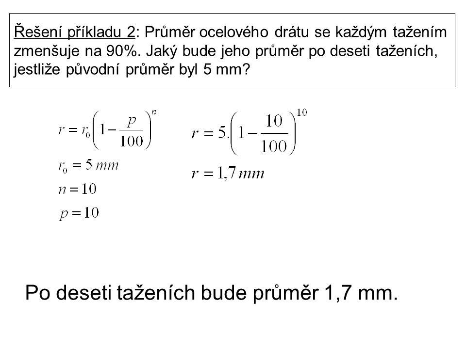 Příklad 3: Tlak v recipientu vývěvy klesne po jednom tahu pístu o 4%.