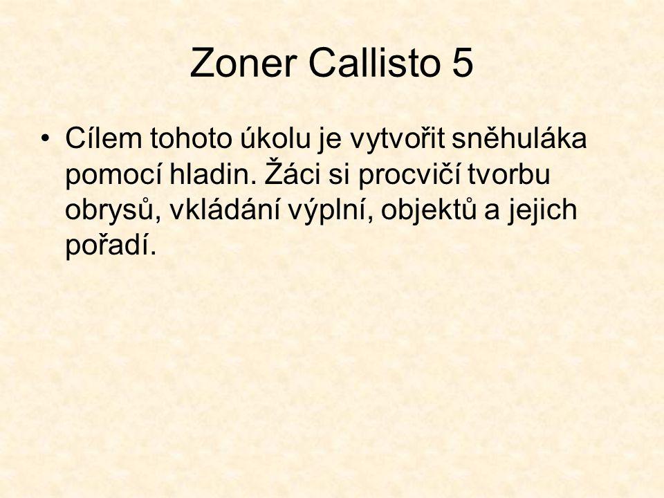Zoner Callisto 5 Cílem tohoto úkolu je vytvořit sněhuláka pomocí hladin.