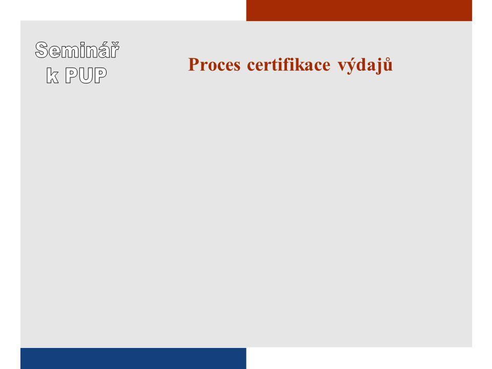 Proces certifikace výdajů