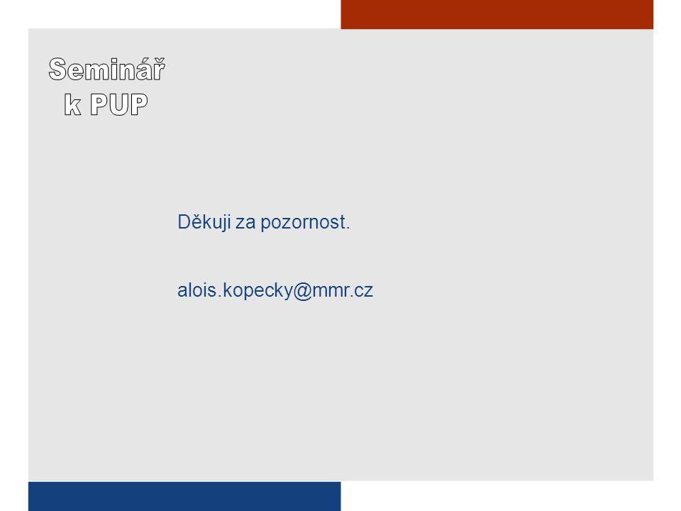 Děkuji za pozornost. alois.kopecky@mmr.cz