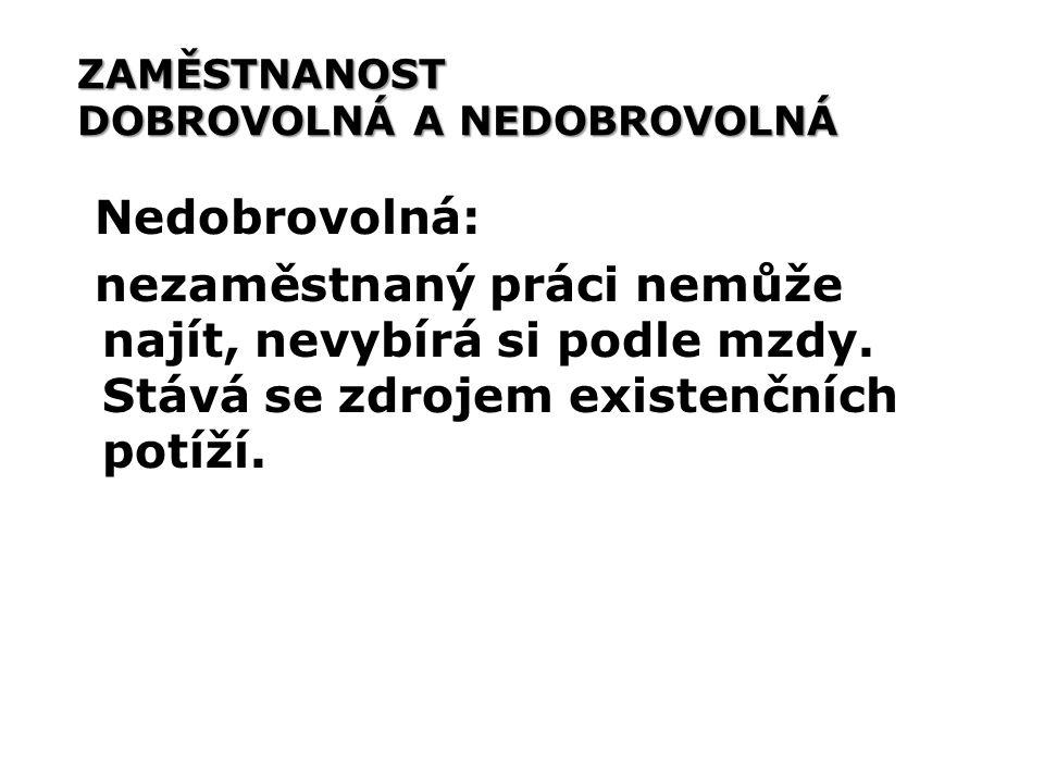 MÍRA NEZAMĚSTNANOSTI V ČR na konci roku 2007 žilo 10 381 130 obyvatel Výpočet míry nezaměstnanosti: počet nezaměstnaných osob (U)/počtem osob zaměstnaných (L) i nezaměstnaných (U) (%) u = U/(L+U)%