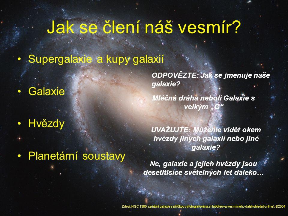 Jak se člení náš vesmír.