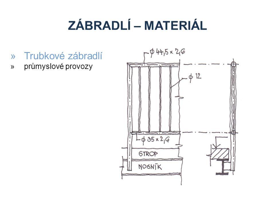 ZÁBRADLÍ – MATERIÁL »Trubkové zábradlí »průmyslové provozy