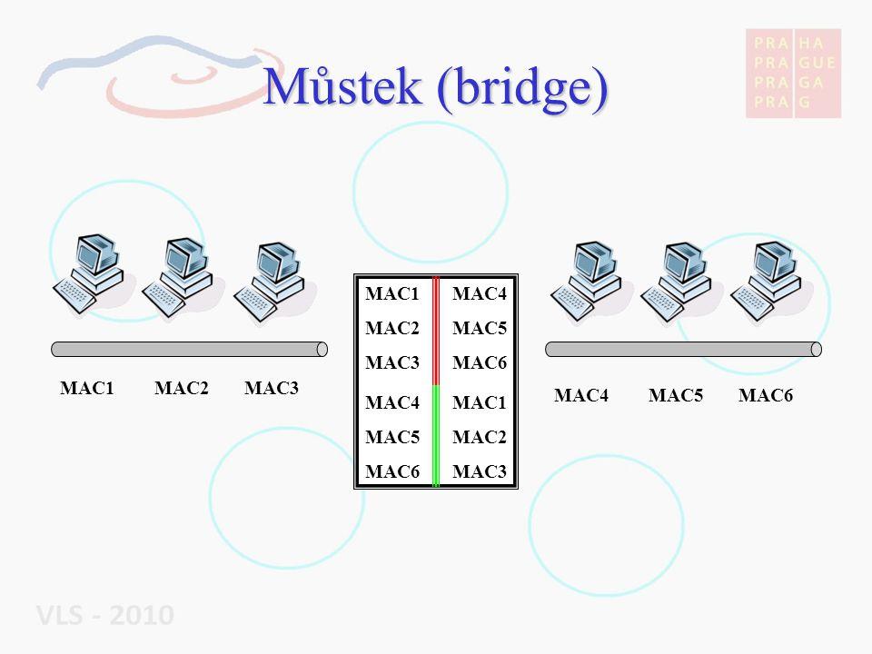 Můstek (bridge) MAC1 MAC2 MAC3 MAC4 MAC5 MAC6 MAC1 MAC2 MAC3 MAC4 MAC5 MAC6 MAC1 MAC2 MAC3 MAC4 MAC5 MAC6