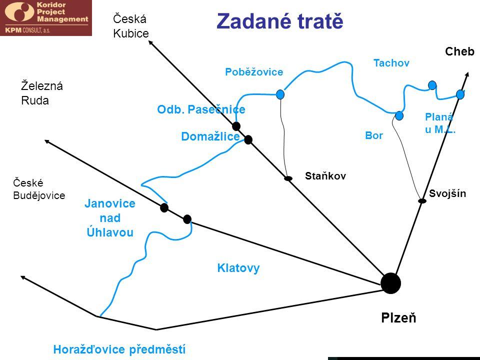 České Budějovice Svojšín Cheb Horažďovice předměstí Plzeň Poběžovice Tachov Bor Planá u M.L.