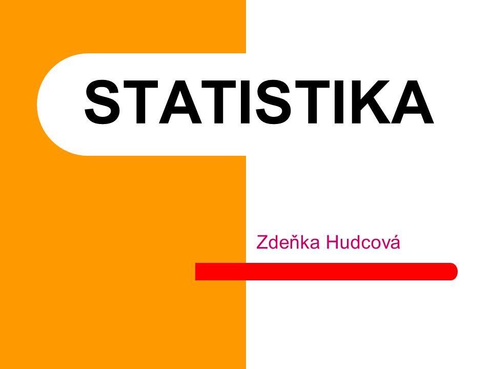 STATISTIKA Zdeňka Hudcová