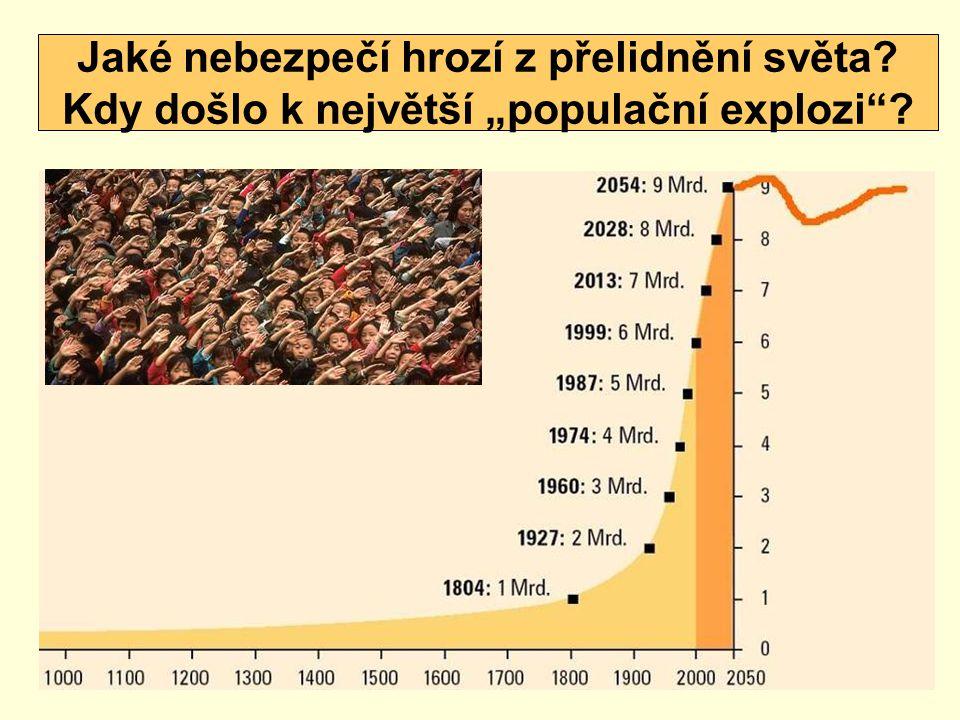 """Jaké nebezpečí hrozí z přelidnění světa? Kdy došlo k největší """"populační explozi""""?"""