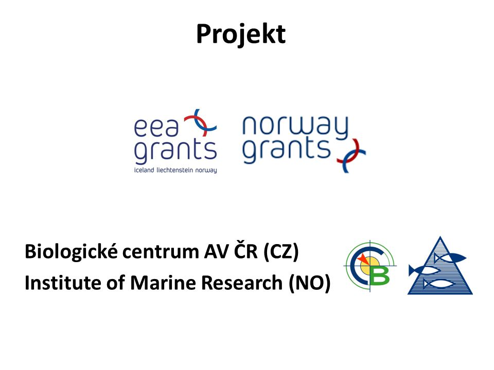 Projekt Biologické centrum AV ČR (CZ) Institute of Marine Research (NO)
