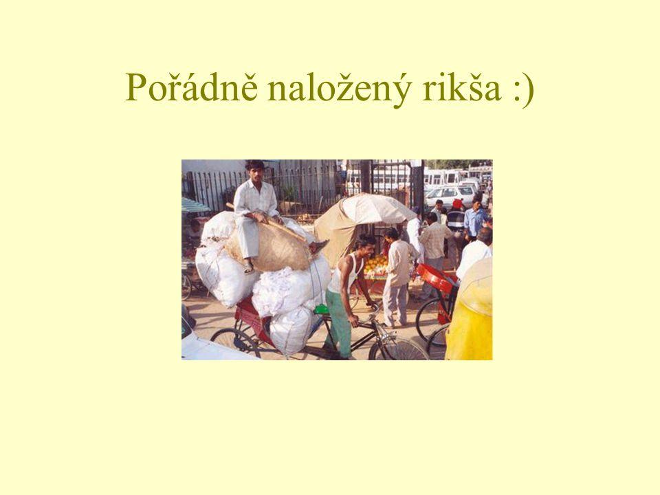 Pořádně naložený rikša :)