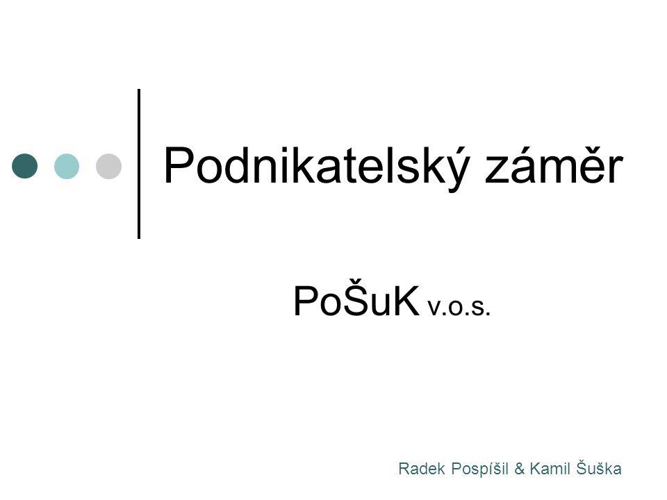 Podnikatelský záměr PoŠuK v.o.s. Radek Pospíšil & Kamil Šuška