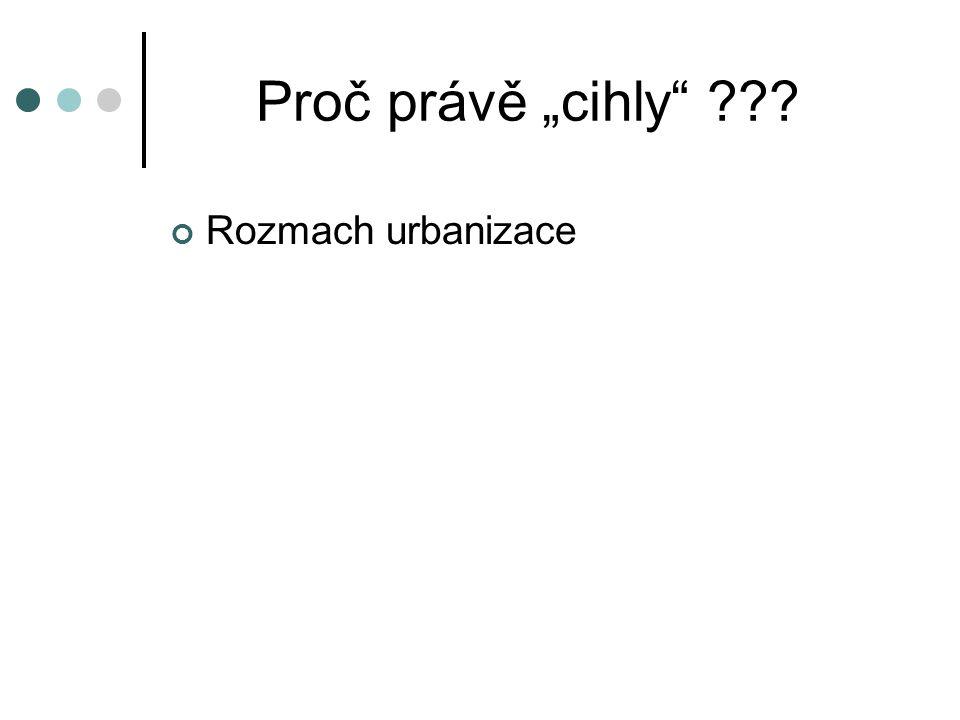 """Proč právě """"cihly ??? Rozmach urbanizace Fenomén satelitních měst"""