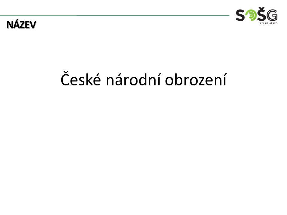 NÁZEV České národní obrození