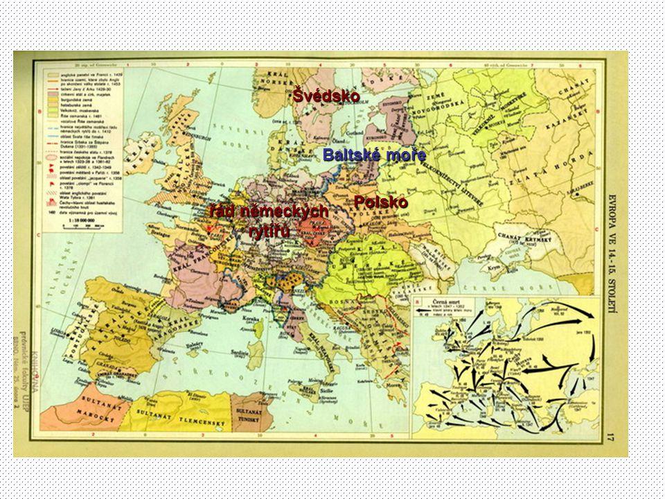 Polsko Švédsko řád německých rytířů Baltské moře