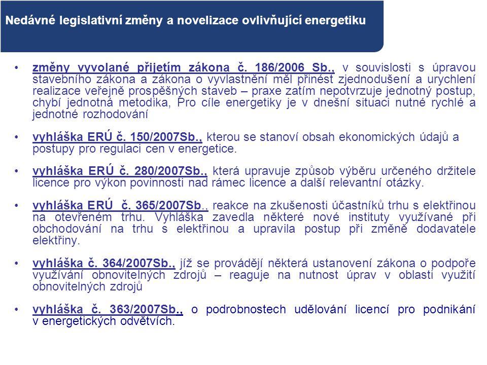 změny vyvolané přijetím zákona č. 186/2006 Sb., v souvislosti s úpravou stavebního zákona a zákona o vyvlastnění měl přinést zjednodušení a urychlení