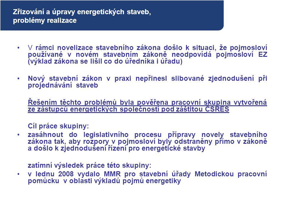 V rámci novelizace stavebního zákona došlo k situaci, že pojmosloví používané v novém stavebním zákoně neodpovídá pojmosloví EZ (výklad zákona se liši