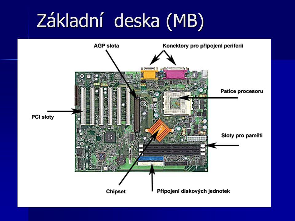 Dělení CPU podle: Struktury procesoru Struktury procesoru –Motorola 68000 a procesory řady Intel 80x86 –Jednočipový mikropočítač nebo také mikrokontrolér např.