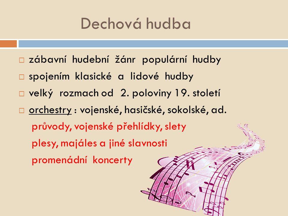 Instrumentální populární hudba Dechová hudba (1)