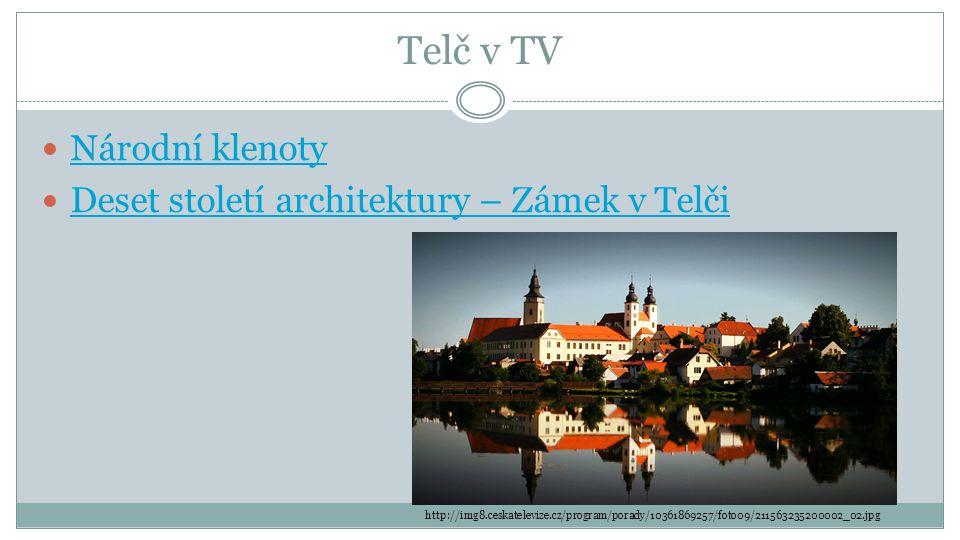 Telč v TV Národní klenoty Deset století architektury – Zámek v Telči http://img8.ceskatelevize.cz/program/porady/10361869257/foto09/211563235200002_02.jpg