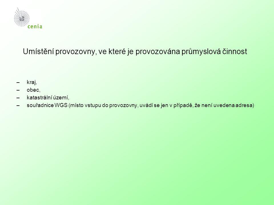 Popis průmyslových a ostatních činností 1.Činnosti dle přílohy č.