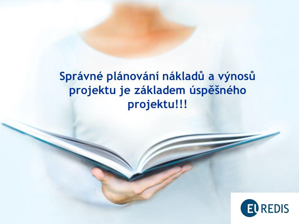 Správné plánování nákladů a výnosů projektu je základem úspěšného projektu!!!