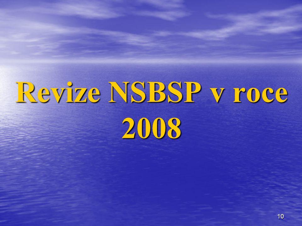 10 Revize NSBSP v roce 2008