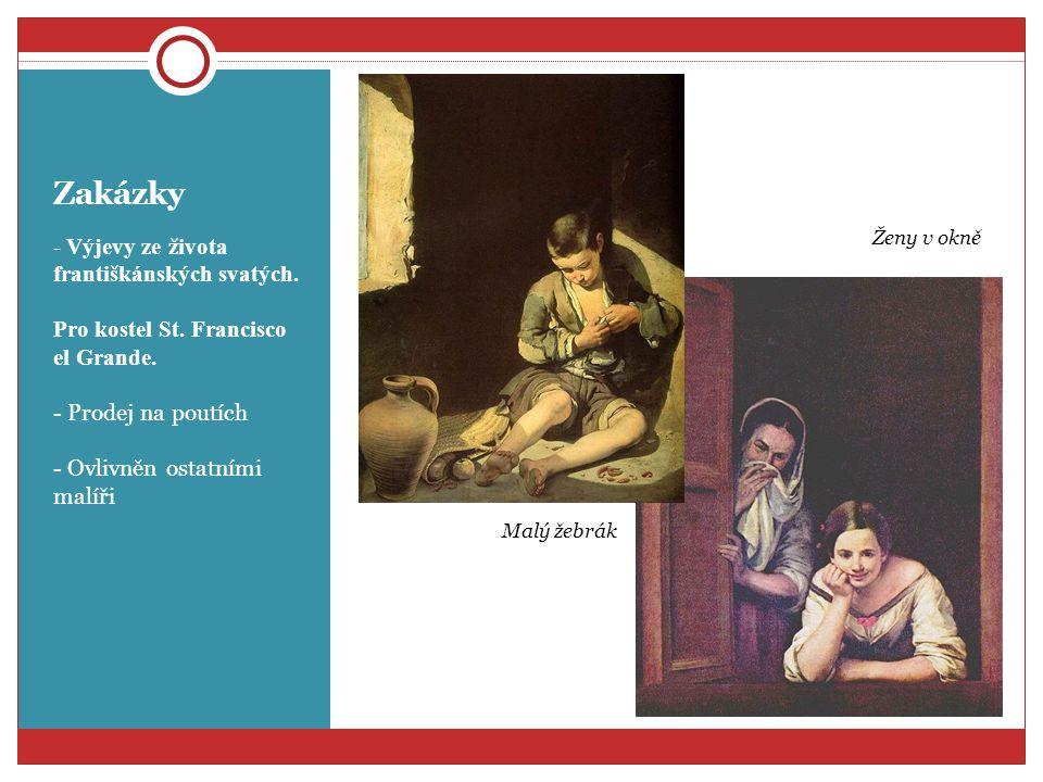 Obyčejné věci - obrazy žen a dětí - popis každodenního života své doby - Přispělo k tomu narození dcery Děti pojídající meloun a hrozny Prodavači ovoce