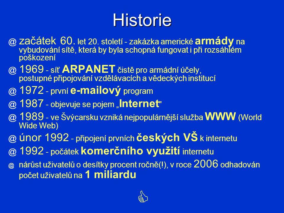 Historie @ začátek 60.let 20.