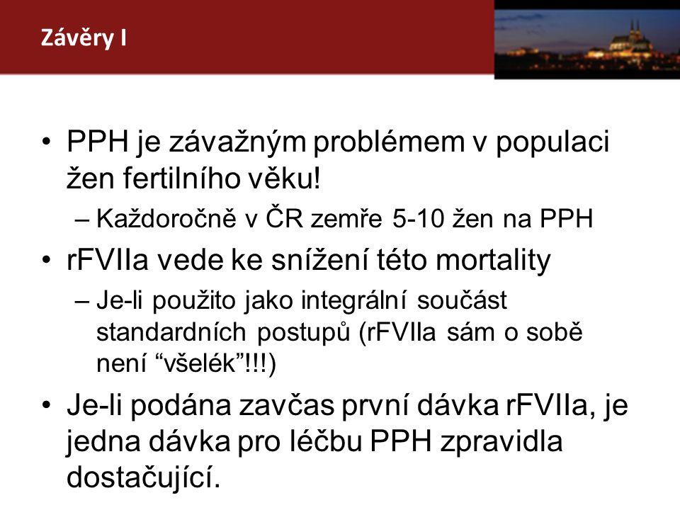 Závěry I PPH je závažným problémem v populaci žen fertilního věku.