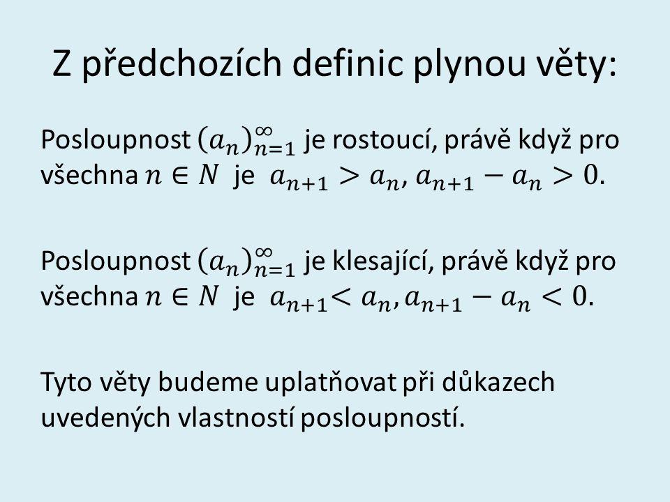 Použitá literatura: ODVÁRKO, Oldřich.Matematika pro gymnázia: posloupnosti a řady.
