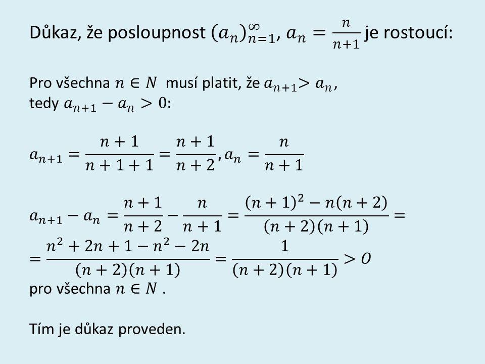 Grafy posloupností z příkladu 1: a) b)