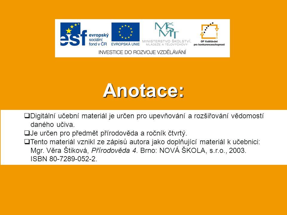 Anotace:  Digitální učební materiál je určen pro upevňování a rozšiřování vědomostí daného učiva.