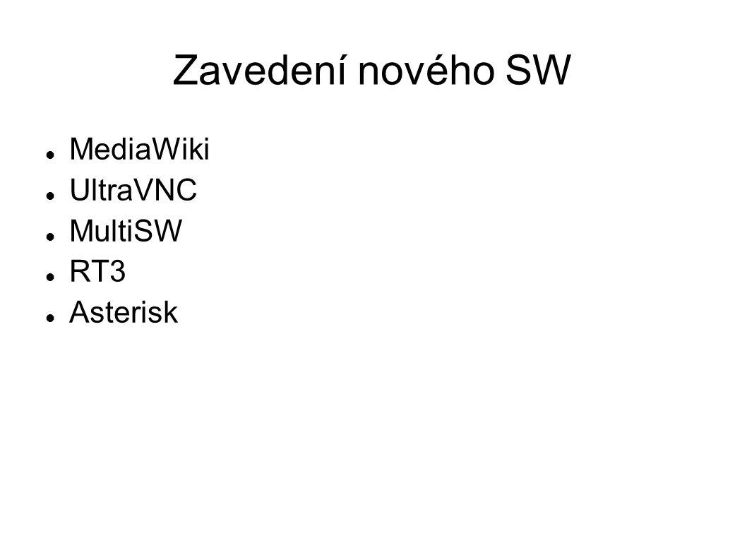 Zavedení nového SW MediaWiki UltraVNC MultiSW RT3 Asterisk