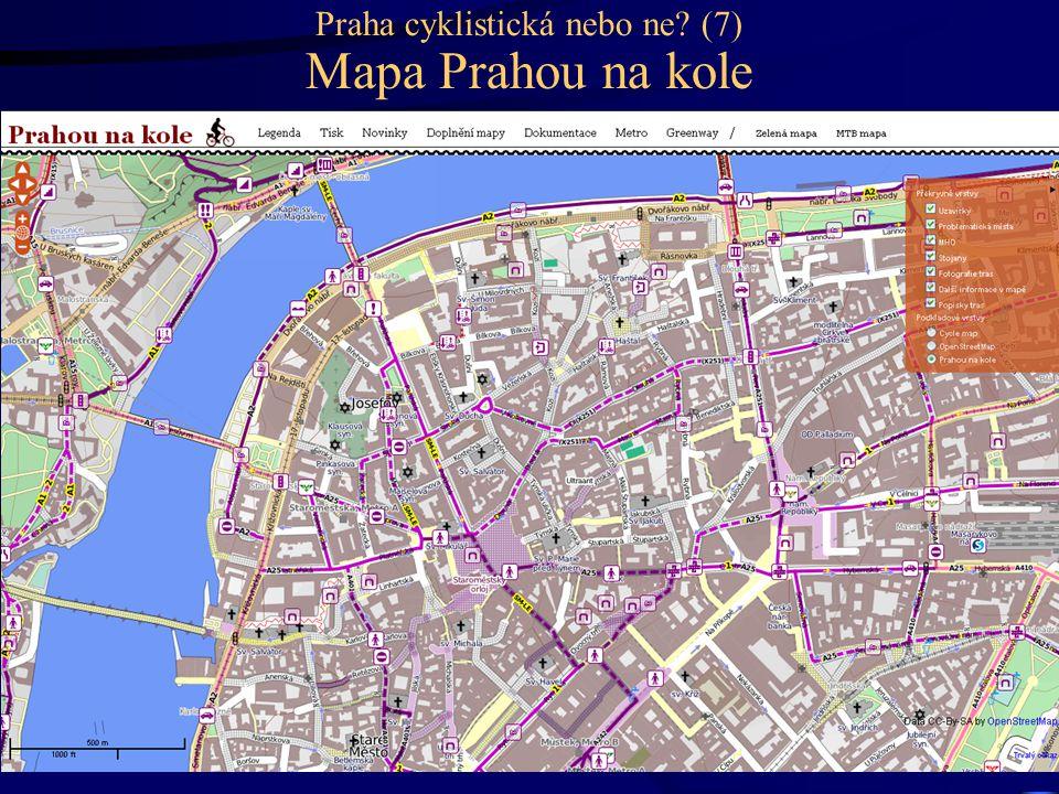 Praha cyklistická nebo ne? (7) Mapa Prahou na kole