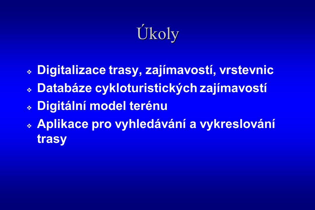 Digitalizace cykloturistických stezek  Aplikace GeoMedia Professional v.