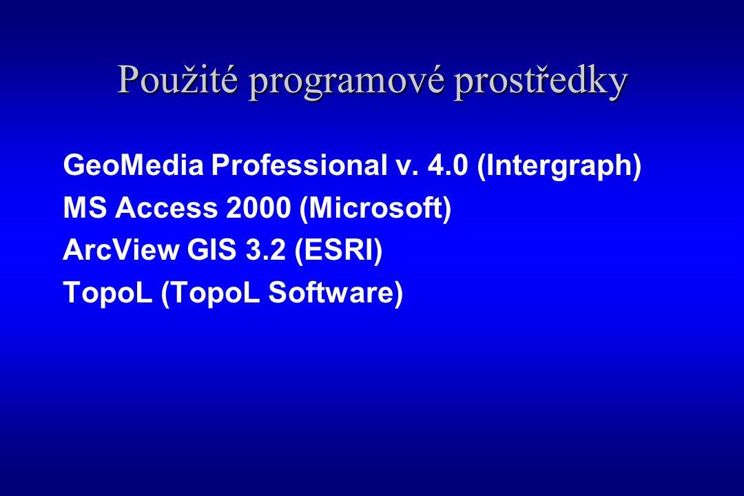 Použité programové prostředky GeoMedia Professional v.