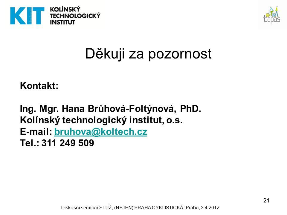 21 Děkuji za pozornost Kontakt: Ing. Mgr. Hana Brůhová-Foltýnová, PhD.