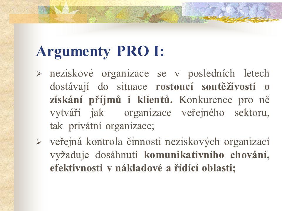 Argumenty PRO II:  rostoucí požadavky spotřebitelů vyžadují zvyšování kvalifikace a kvality dialogu, především v oblasti výměnných relací, která je základním úsekem hodnocení;  nákladové omezení vyžaduje vyšší efektivnost využívání zdrojů, která se dá dosáhnout právě prostřednictvím vyššího stupně účasti spotřebitelů v procesu služeb.