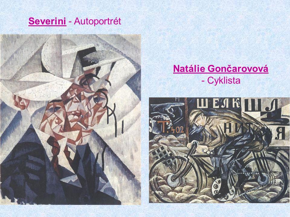Severini - Autoportrét Natálie Gončarovová - Cyklista