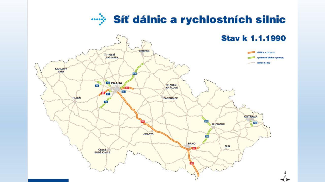Cyklistická dopravní síť Trvalý nárůst Největší výskyt – Praha, Středočeský kraj 1 600 km cyklostras 310km komunikací vhodných pro cyklisty 37 000km cyklostras