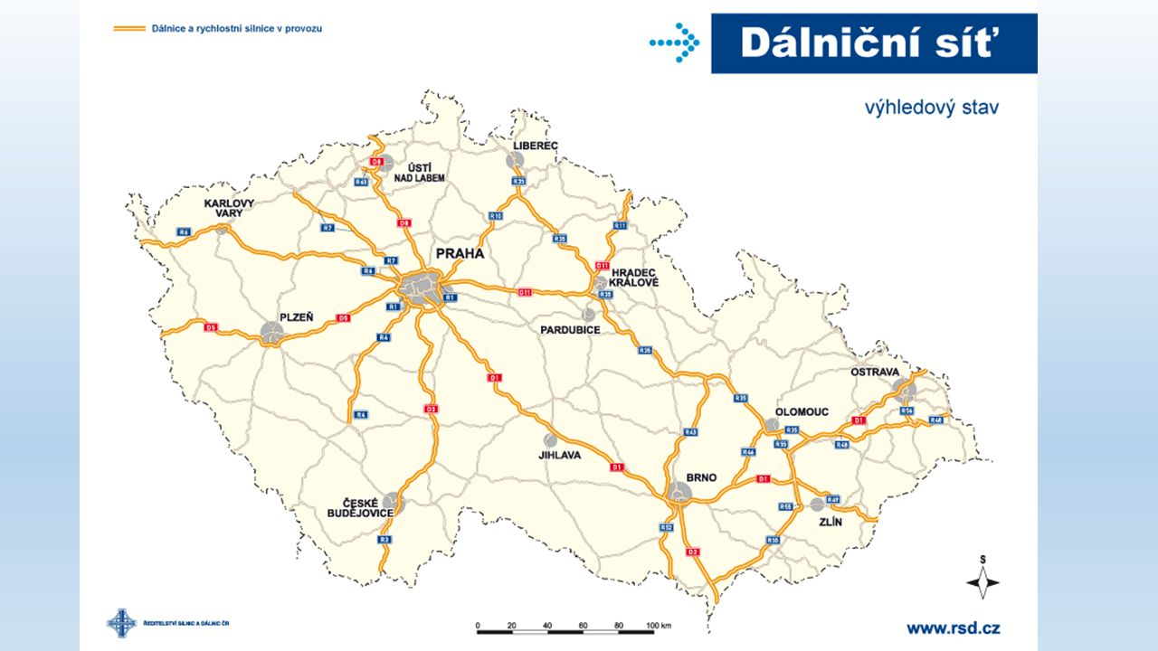 Železniční siť České Republice 9580km tratí 3100 km elektrifikováno 1402km spadá do evropského železničního systému tratí (koridorové) 700km s max.