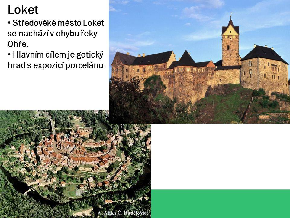 Loket Středověké město Loket se nachází v ohybu řeky Ohře.