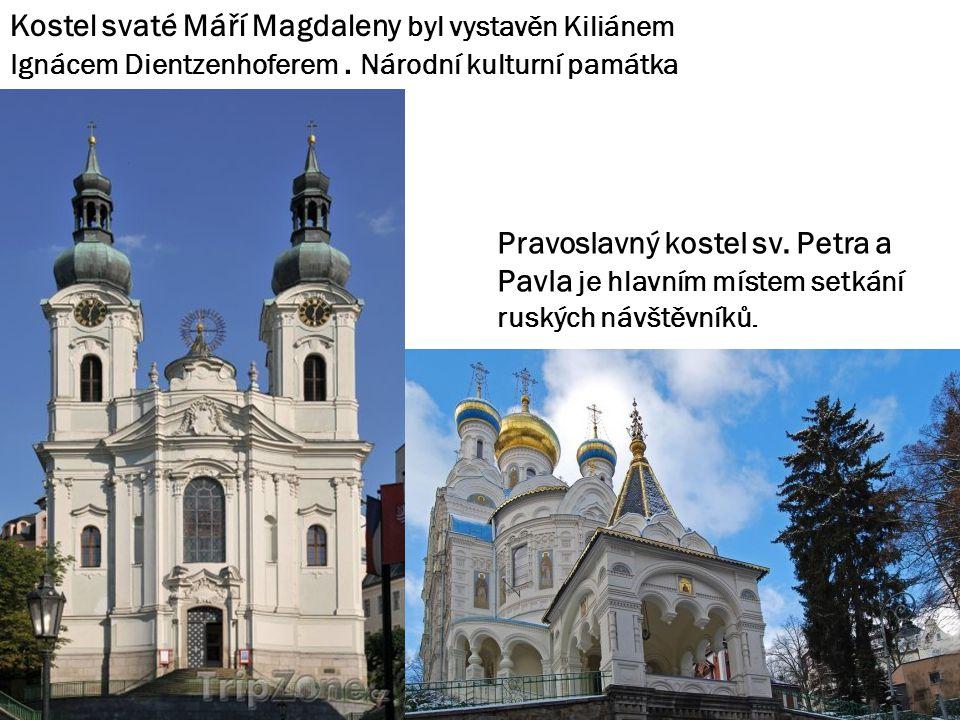 Kostel svaté Máří Magdaleny byl vystavěn Kiliánem Ignácem Dientzenhoferem.