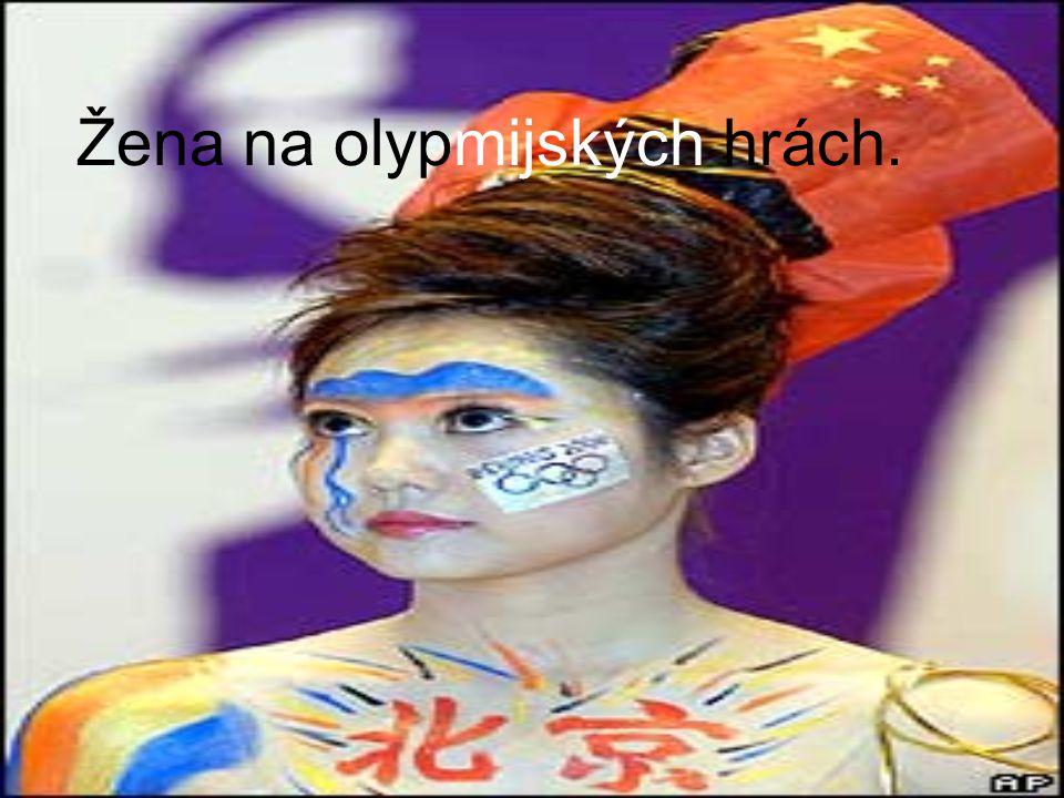 Žena na olypmijských hrách.