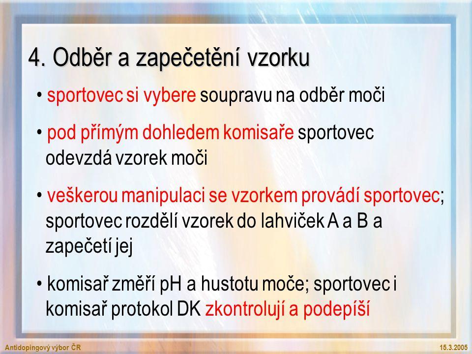 Antidopingový výbor ČR15.3.2005 4.
