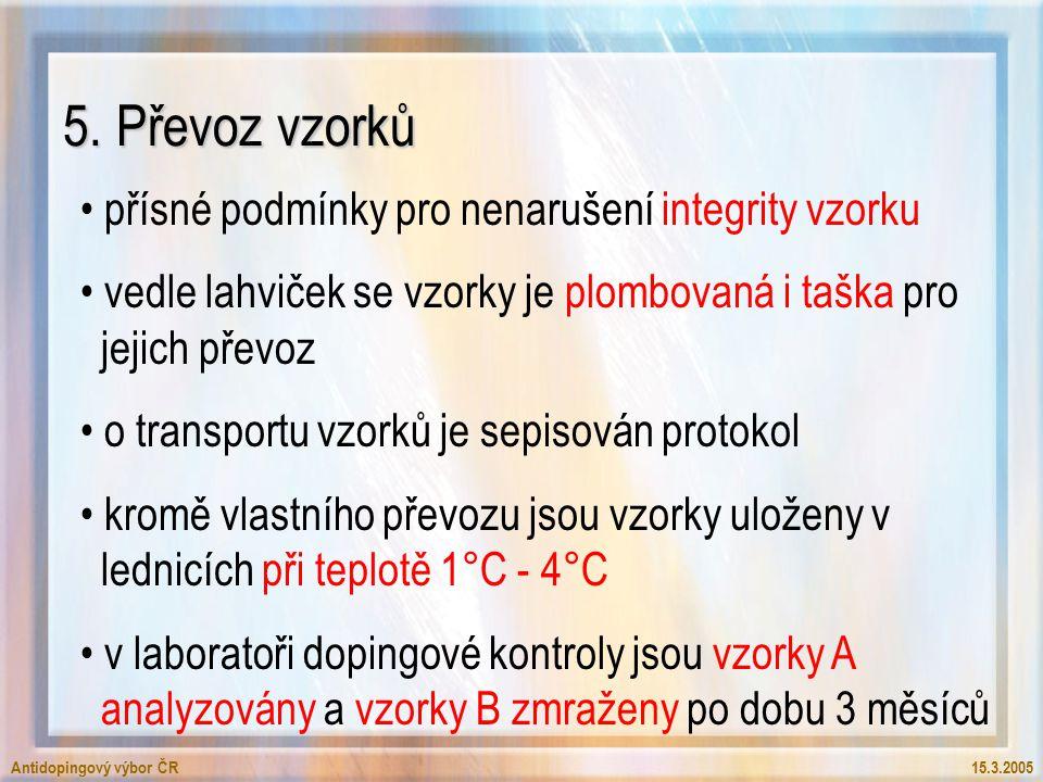 Antidopingový výbor ČR15.3.2005 5.