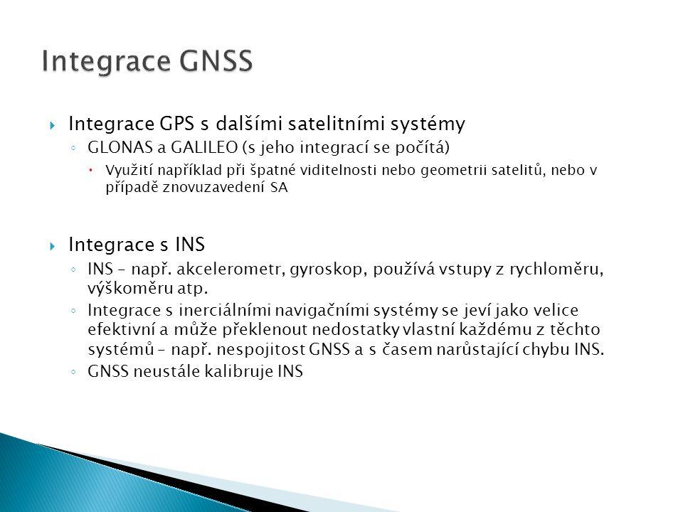  V závislosti na požadavcích užití se používají 3 postupy: ◦ Uncoupled mode (rozpojený mód)  GNSS i INS poskytují nezávislé vyhodnocení polohy, procesor je buď vybere nebo spojí ◦ Loosely coupled mode (volně spojený mód)  INS pomáhá zpřesnit GPS výpočty a je zpětně kalibrován.
