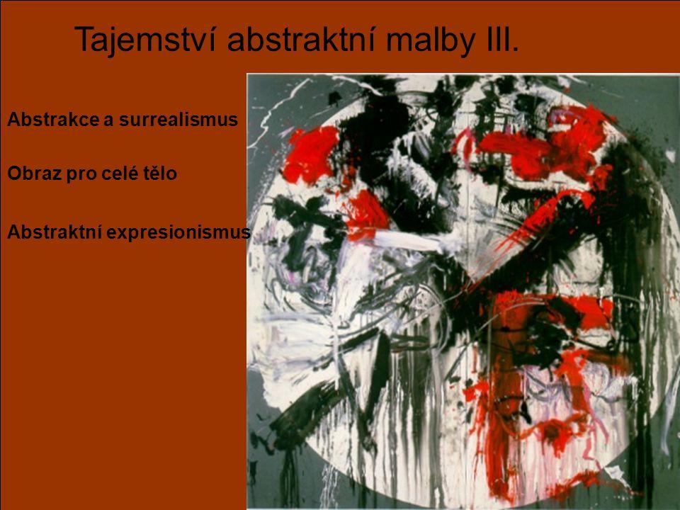 Tajemství abstraktní malby III. Abstrakce a surrealismus Obraz pro celé tělo Abstraktní expresionismus
